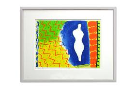 """Lithograph by WATANABE Toyoshige """"Have you seen Matisse?"""""""
