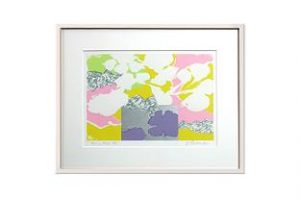 "Lithograph by Yasse TABUCHI ""Esprit floral"""