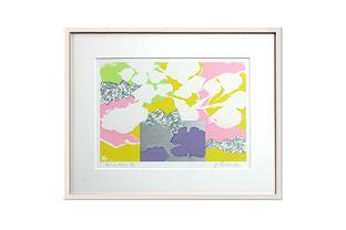 "Lithograph by Yasse TABUCHI ""Esprit floral"""