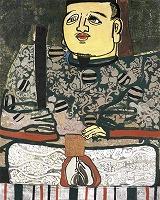 片岡球子 《面構 等持院殿》1967年 顔料、合成樹脂、カンヴァス