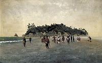 高橋由一 《江の島図》1876-77年 油彩,カンヴァス