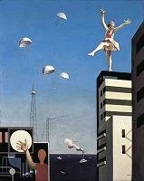 古賀春江 《窓外の化粧》1930年 油彩,カンヴァス