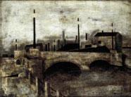 Shunsuke Matsumoto, The Bridge (Near Tokyo Station), 1941, gift of Mr. Shoroku Hatakeyama.
